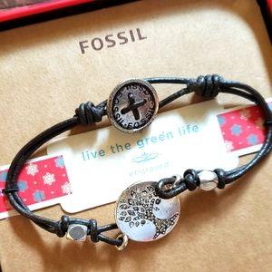 Fossil 'Live the Green Life' Bracelet
